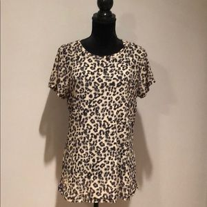Leopard short sleeve Mesh Tee